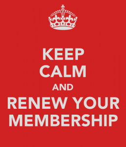 Keep Calm and Renew Your Membership